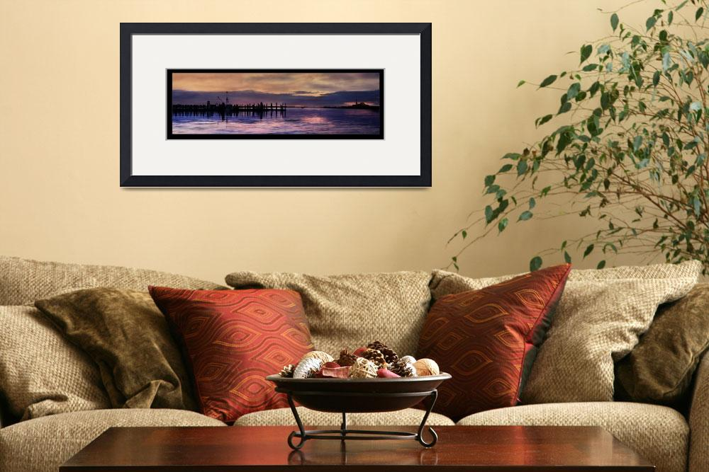 """""""Harbor at Dawn&quot  (2007) by bevmichel"""