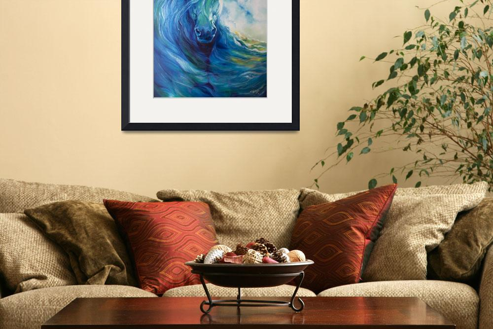 """""""BLUE GHOST OCEAN EQUINE&quot  (2013) by MBaldwinFineArt2006"""