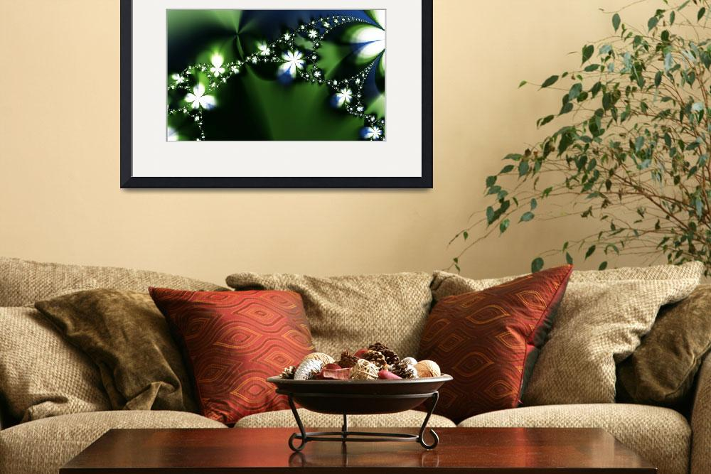 """""""Engaging Beautiful Floral Fractal&quot  (2008) by LisaEwingArt"""