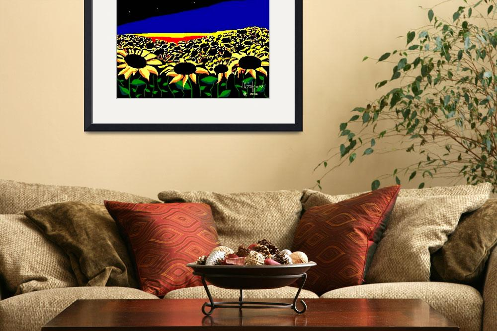 """""""Sunflowers at Sunset&quot  (2015) by davegafford"""