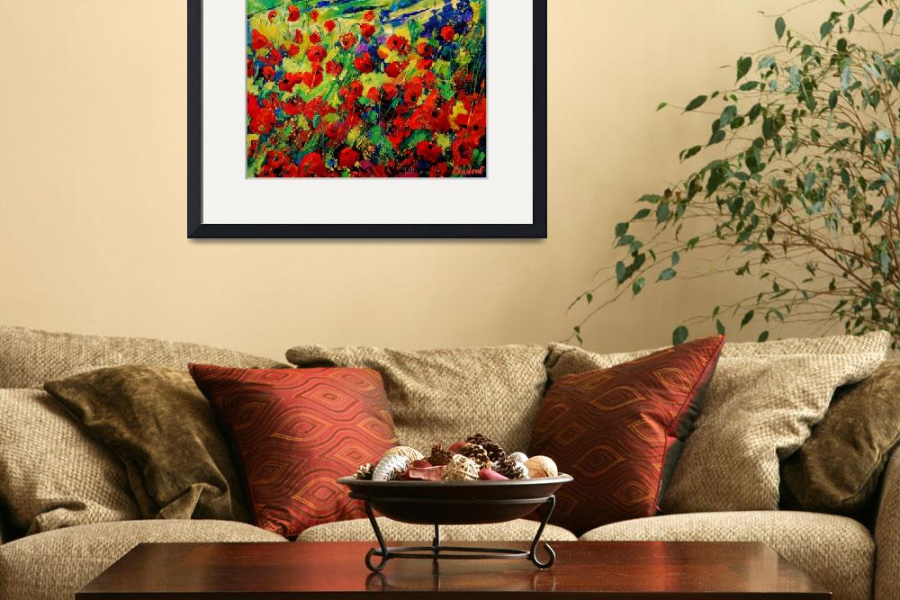 """""""red poppies 78&quot  by pol"""