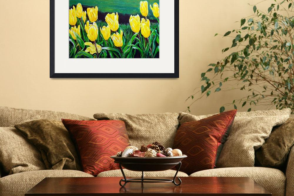 """""""Yellow Garden&quot  (2010) by westwindranchcreations"""