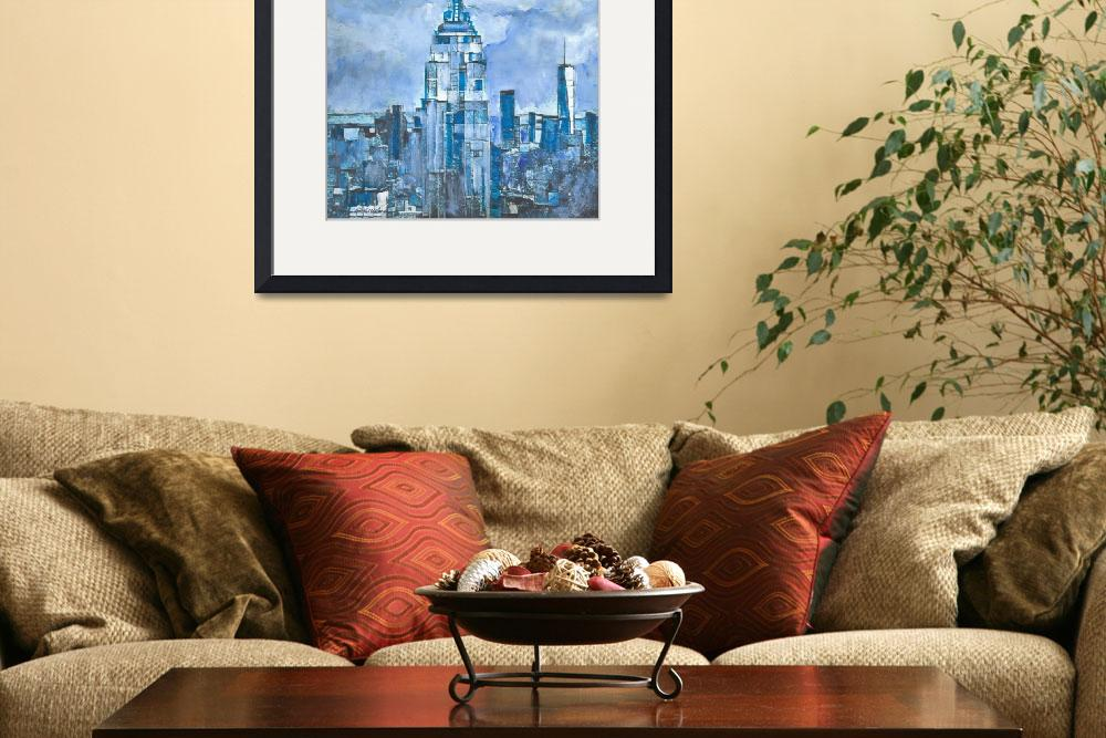 """""""New York City Blue - View of Downtown&quot  (2018) by RDRiccoboni"""