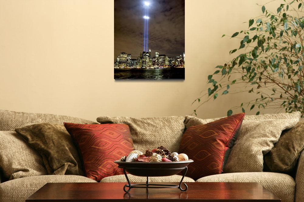 """""""Tribute in Light on September 11 over NYC&quot  (2008) by New-Yorkled"""
