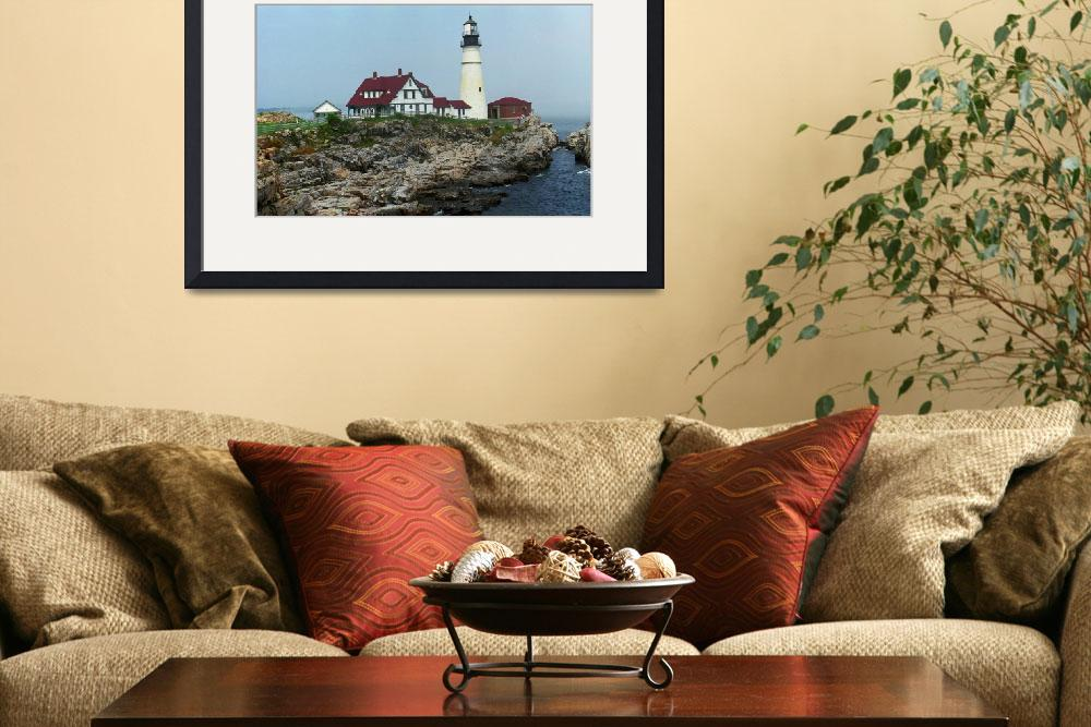 """""""Lighthouse - Portland Head, Maine 2004&quot  (2004) by Ffooter"""