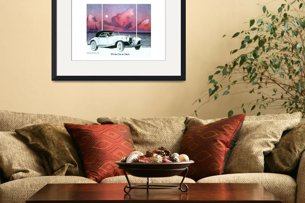 """""""White Car at Dusk&quot  by Proartist"""
