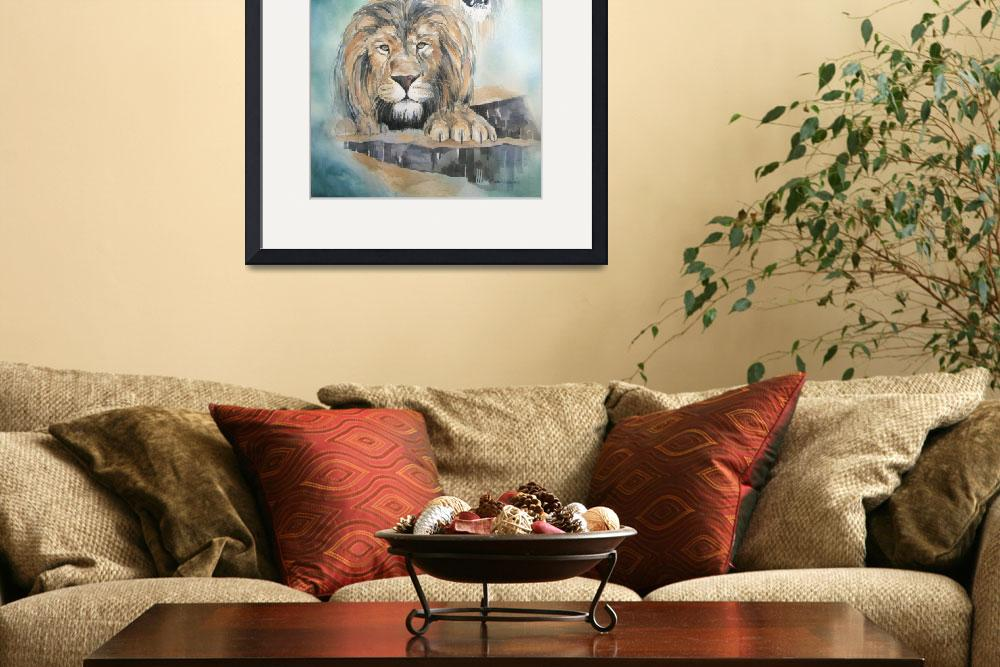"""""""Lions of Grace and Truth&quot  by kimkloeckerart"""
