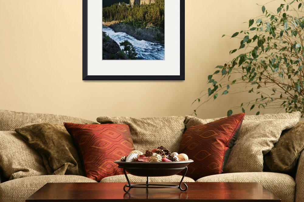 """""""Banff Springs Hotel And Bow Falls, Banff National&quot  by DesignPics"""