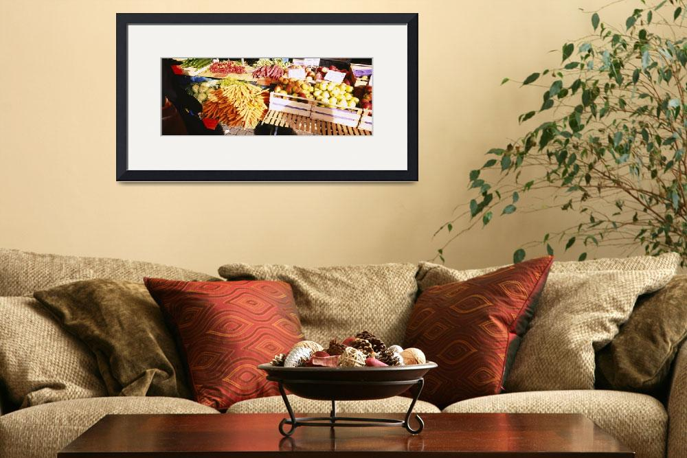 """High angle view of fruits and vegetables in a veg&quot  by Panoramic_Images"