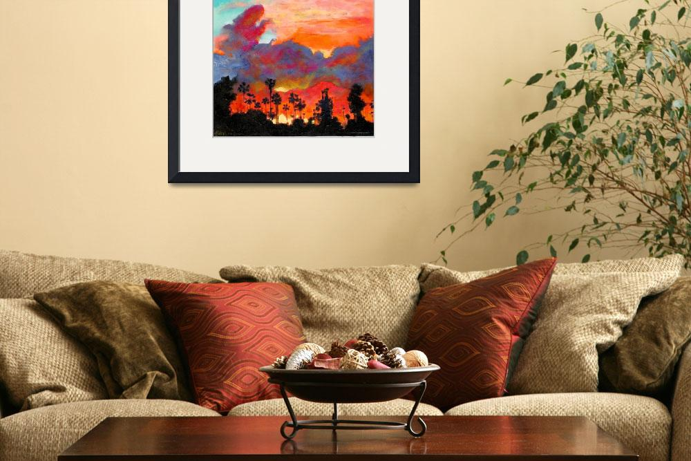 """""""Sunset at Texas Canyon San Diego California&quot  (2007) by RDRiccoboni"""