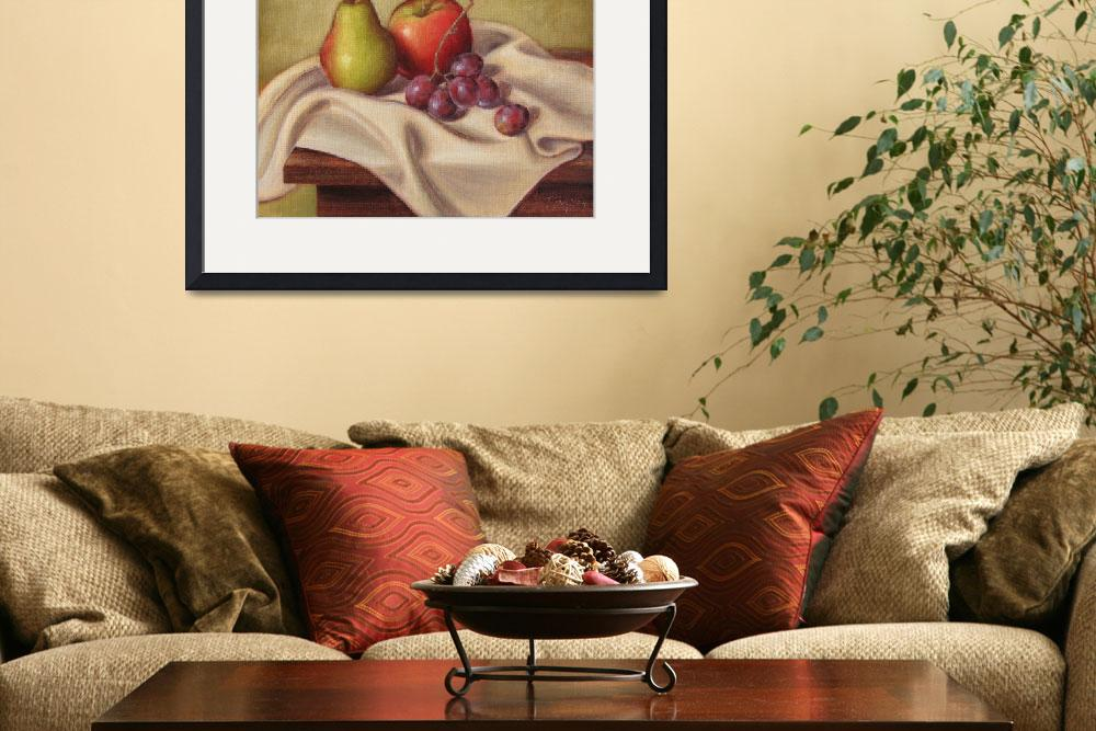 """""""Pear, Apple, and Grapes&quot  (2008) by tbezesky"""