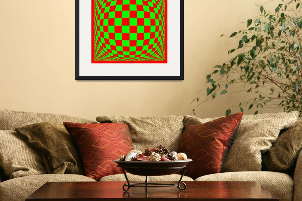 """""""Warped checkerboard pattern #12&quot  (2010) by bobb"""
