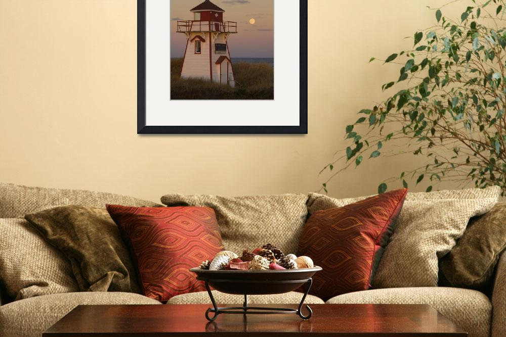 """Full Moon Over Covehead Lighthouse, Prince Edward&quot  by DesignPics"