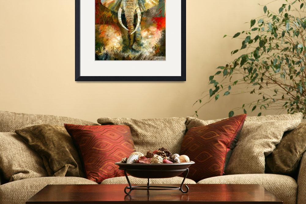 """African Elephant&quot  (2008) by creativesportsart"