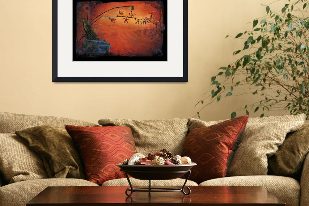 """""""Red Orchid - Ikebana&quot  by OpieSnowPrints"""