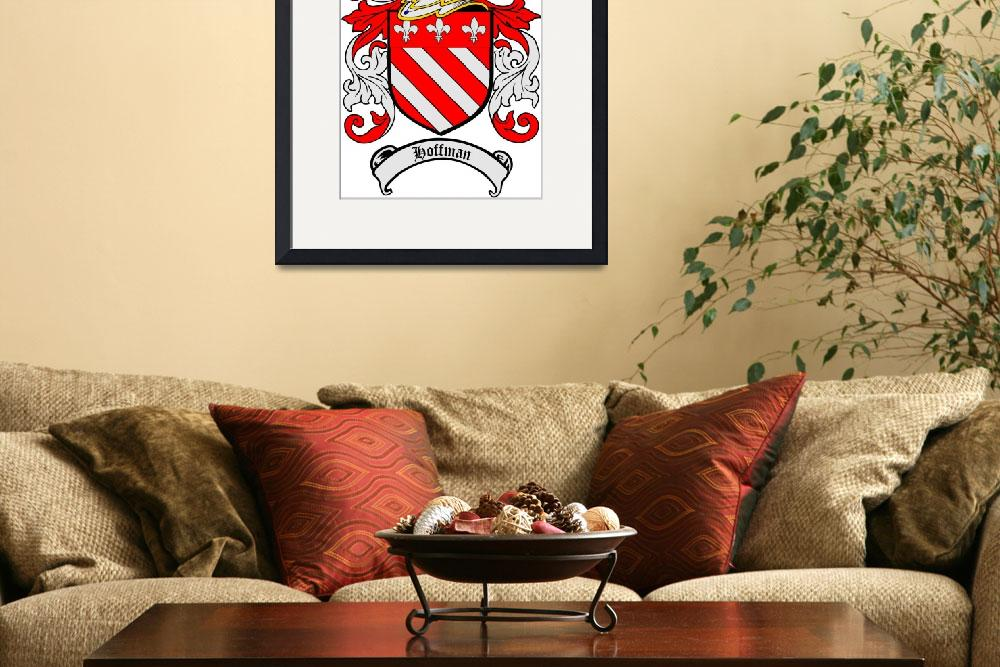 """HOFFMAN FAMILY CREST - COAT OF ARMS&quot  by coatofarms"