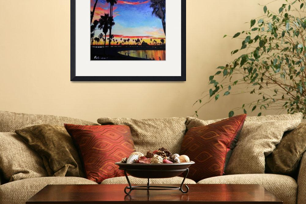 """""""Sunset Mission Bay San Diego California&quot  (2014) by RDRiccoboni"""