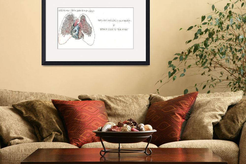"""""""Friends are like a Good Pair of Lungs&quot  by SeanFineArt"""