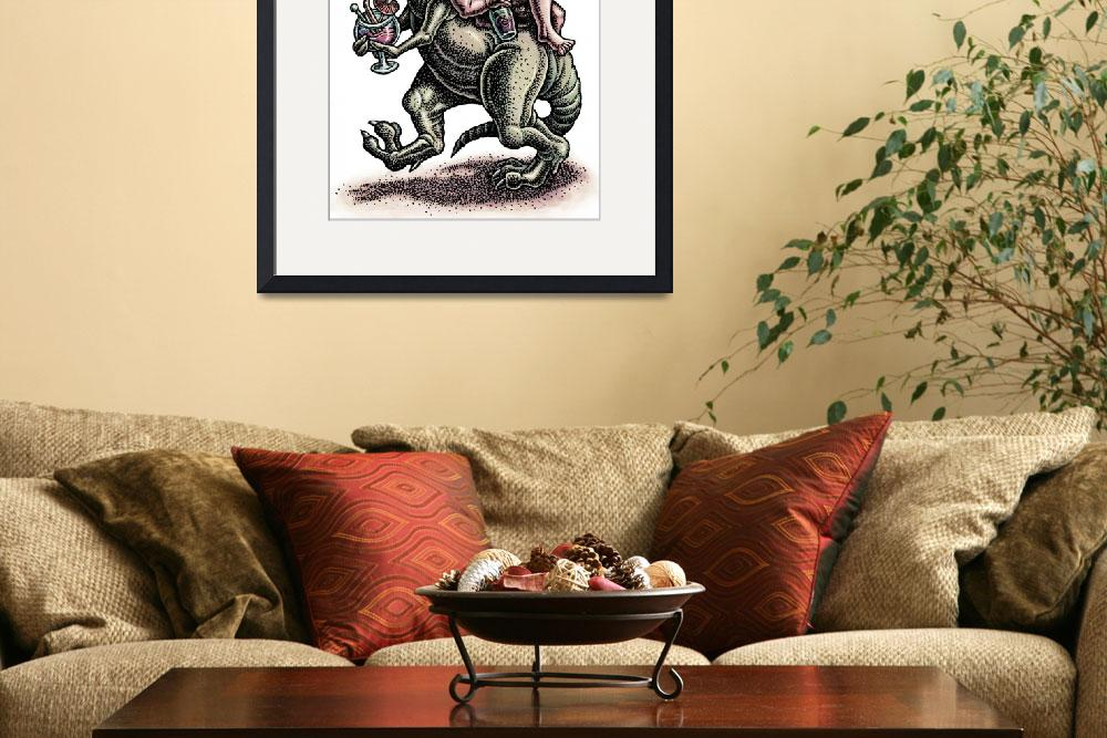 """""""Caveman, Dinosaur, and Wine&quot  (2012) by LisaHaney"""