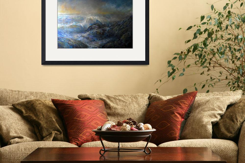 """""""Pacific Coast Summer Storm 2010&quot  (2010) by seascapeartist"""