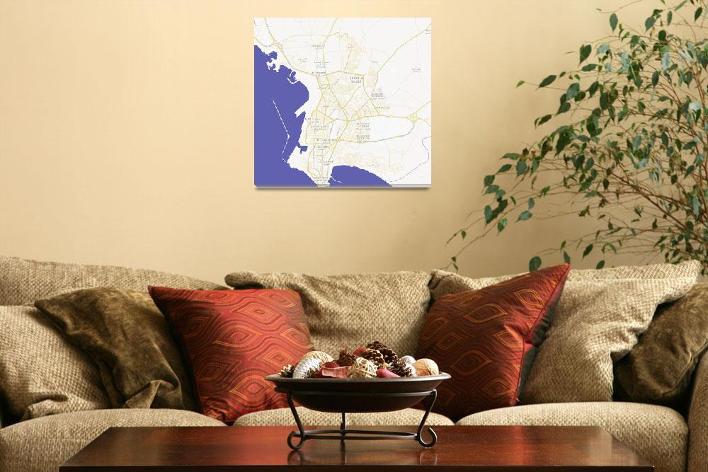 """Minimalist Modern Map of Latakia, Syria 1""  by motionage"
