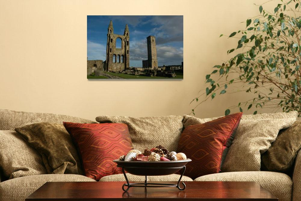 """""""St. Andrews Cathedral ruins Scotland""""  (2004) by Roadtripphoto"""