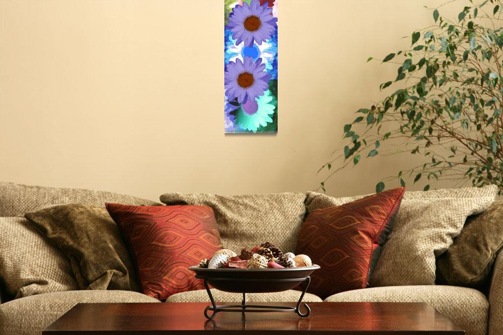 """""""Vertical Daisy Collage&quot  (2009) by RuthPalmer"""