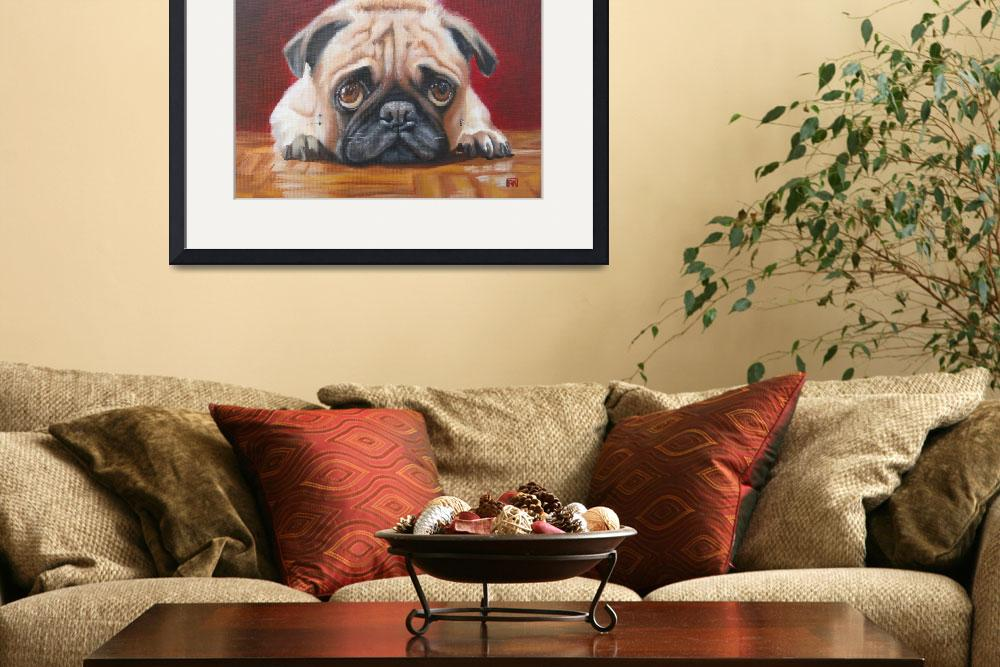 """""""Pug Staring Contest&quot  (2012) by RachelKeough"""