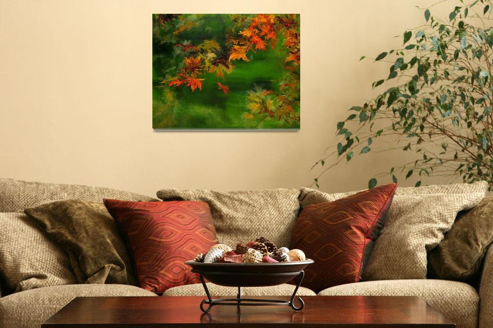 """Falling Leaf""  (2013) by ArtByDianeKraudelt"