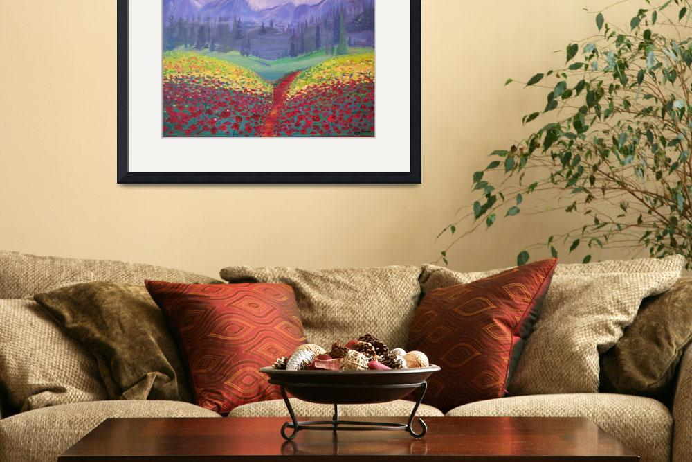 """""""Tuscan Poppies&quot  (2008) by srzimmartist"""