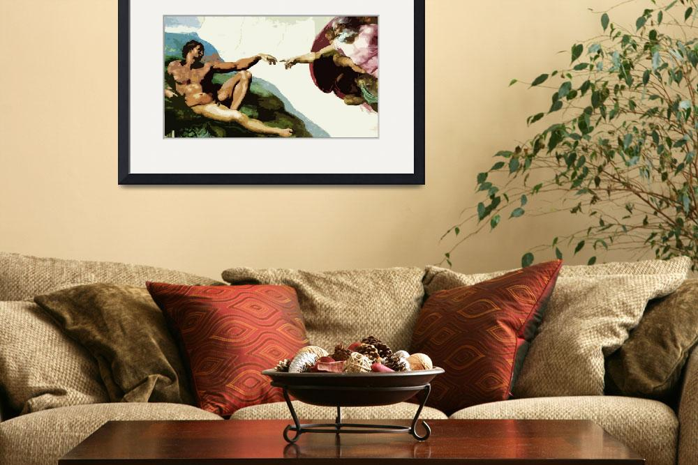 """""""The Creation of Adam&quot  (2011) by whitewallgallery"""