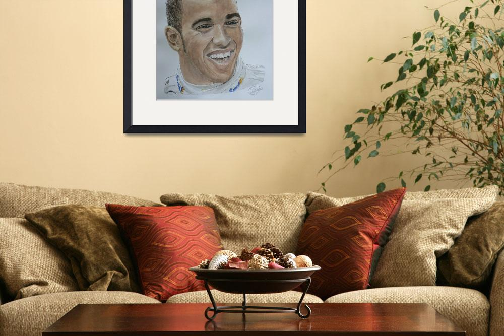 """LEWIS HAMILTON""  (2009) by Rogertheartist"