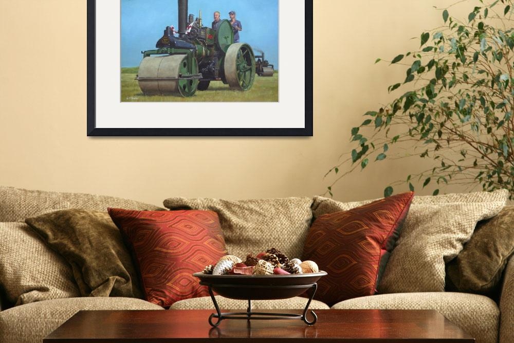 """""""steam traction engine&quot  (2010) by martindavey"""