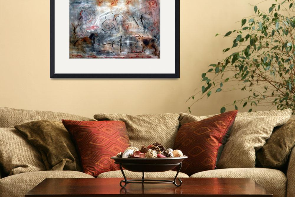 """""""Contemporary Cave Painting&quot  (2009) by ArtPrints"""