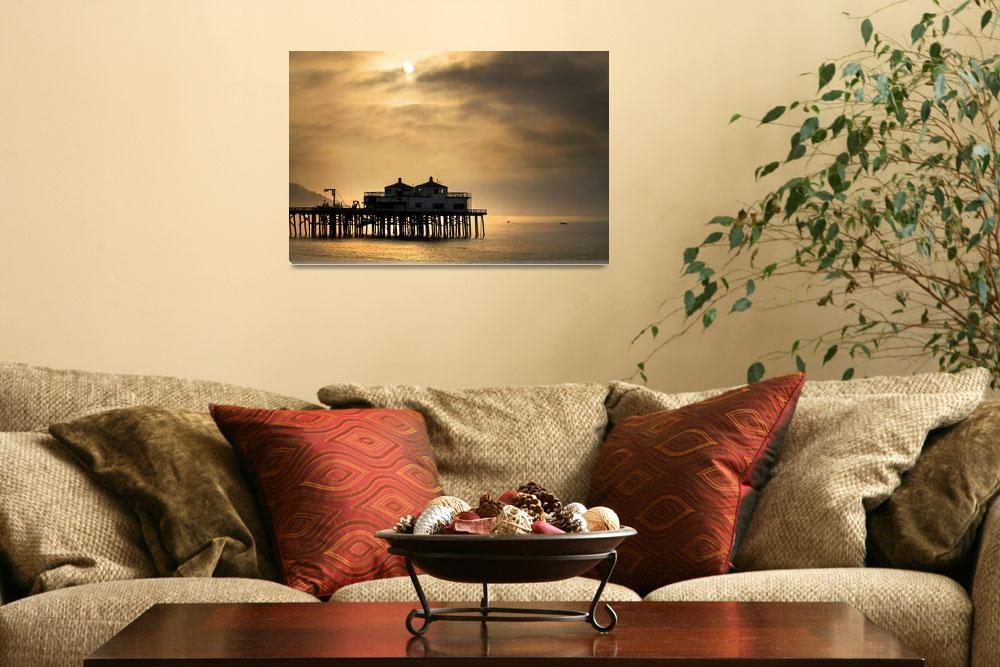 """Malibu Pier at Sunrise&quot  (2011) by jody9"