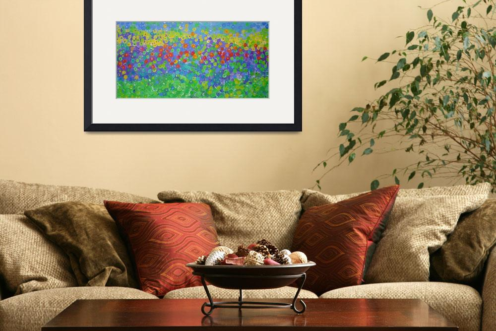 """""""Mosaic Pansies&quot  (2006) by srzimmartist"""
