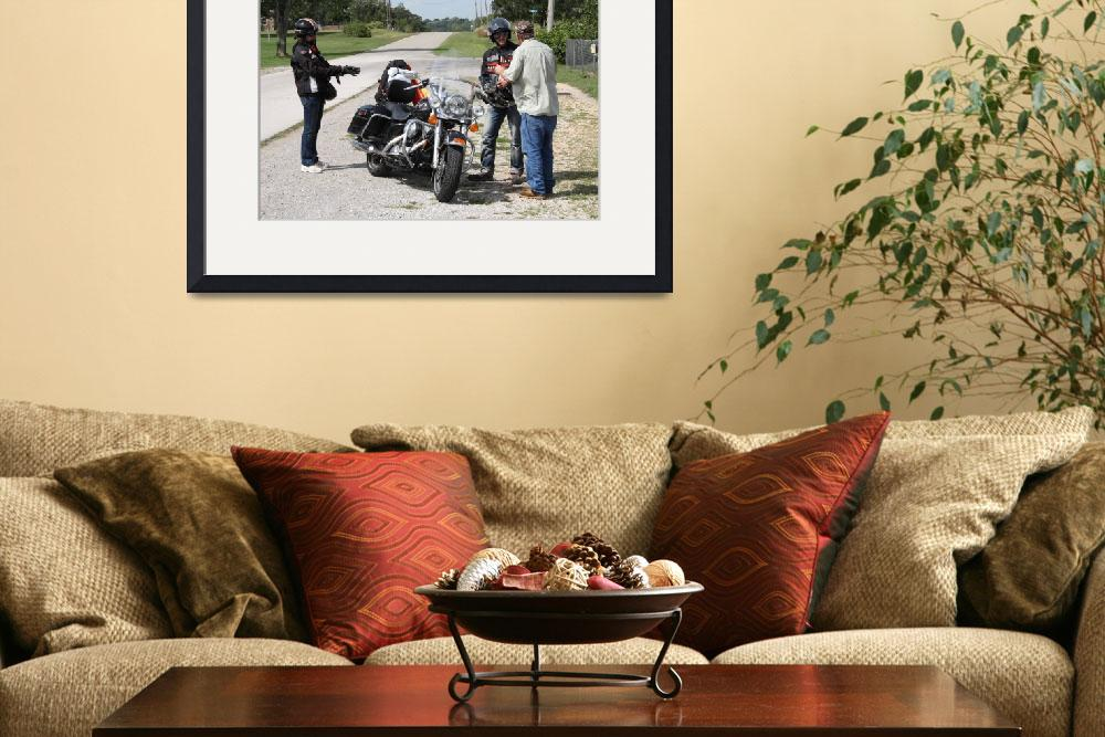 """""""Route 66 - Motorcyclists&quot  (2008) by Ffooter"""