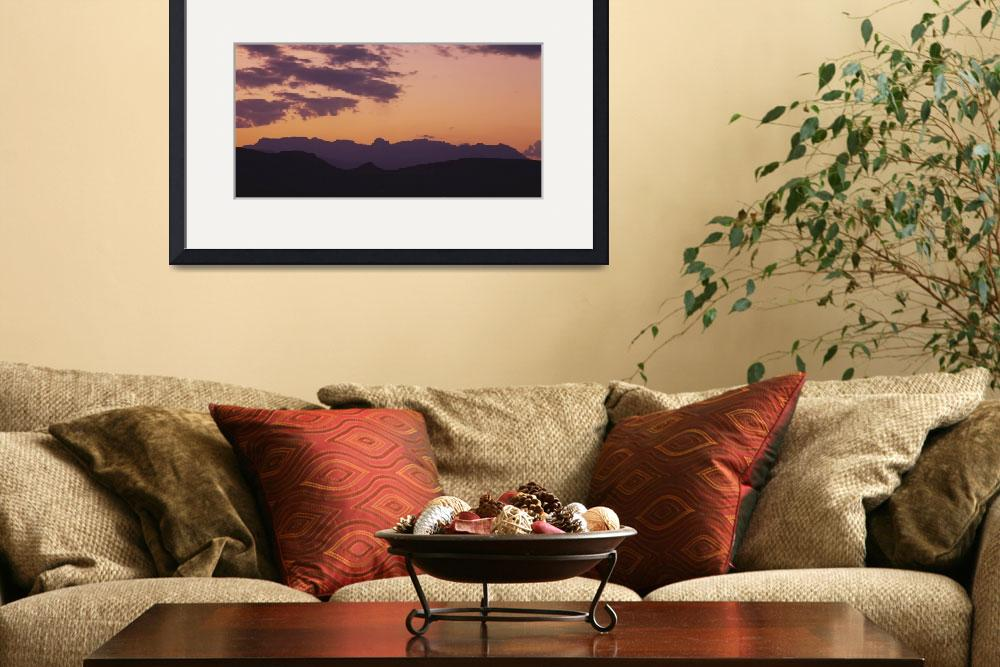 """""""Silhouette of mountain ranges&quot  by Panoramic_Images"""