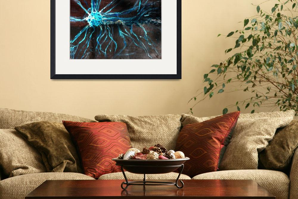 """""""Tesla Coil full painting&quot  (2005) by FollowTheDon"""