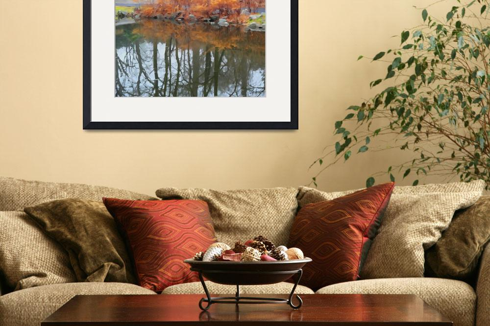 """""""Pond Side&quot  (2013) by kristensteinfineart"""