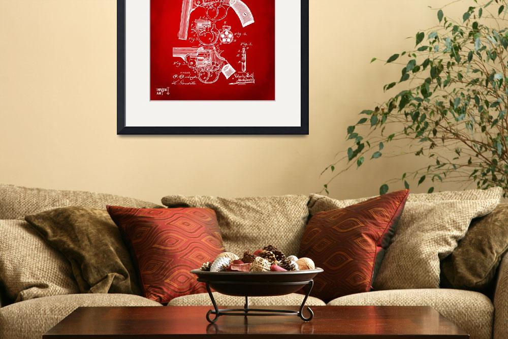 """""""Foehl 1894 Revolver Patent Red&quot  by nikkismith"""