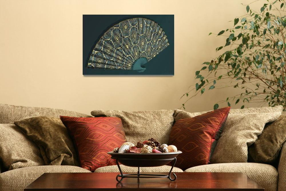 """Asian Fan Deco 03 - 3D Model""  (2011) by WallArtDeco"