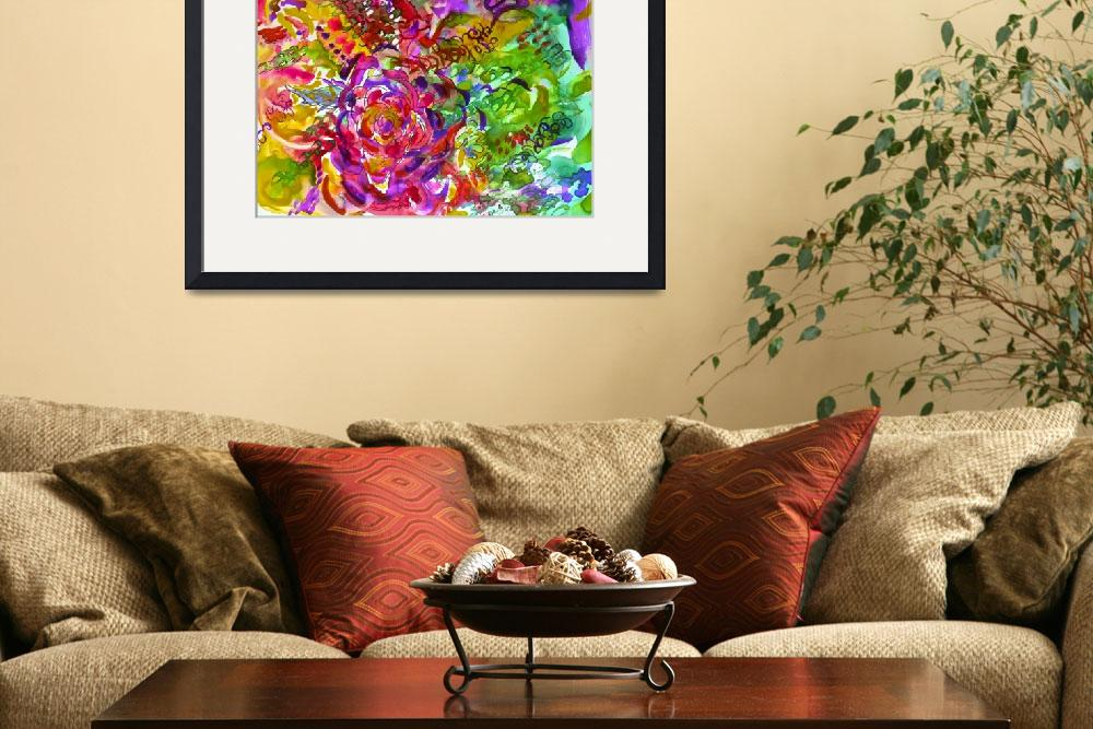 """Colorful Abstract Floral Watercolor""  (2013) by TheArtwerks"