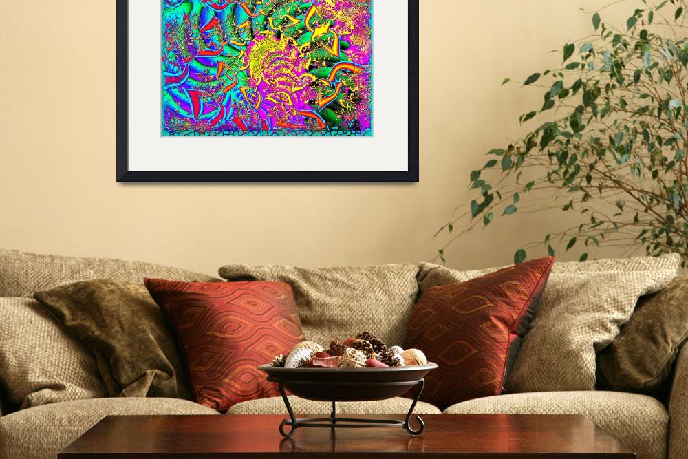 """""""Like Candy 3D Psychadelic Fractal&quot  (2012) by ReneeLozenGraphics"""