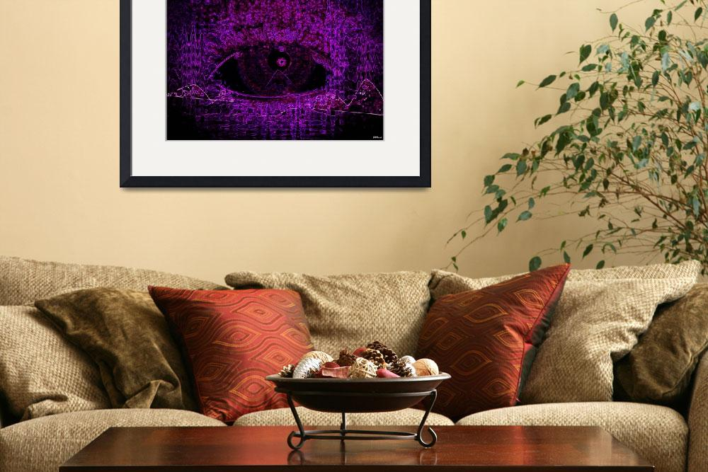 """Eye See Over Mountains (Purple)""  (2010) by ADDesigns"