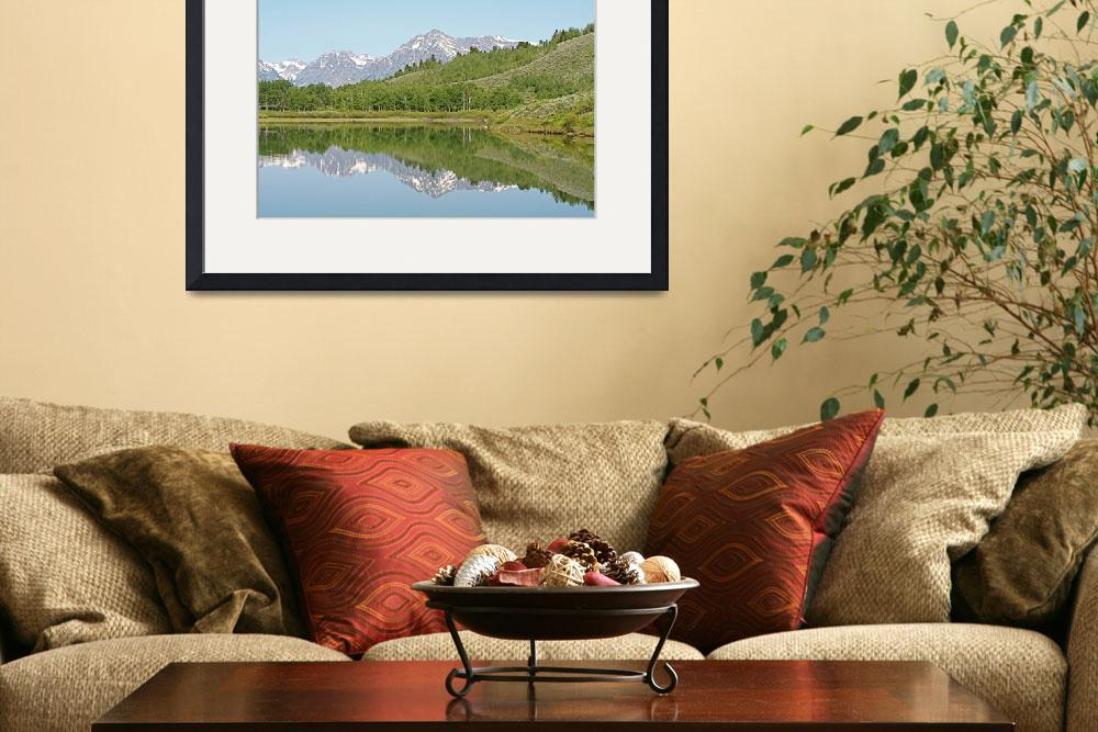 """""""Teton Reflections 4&quot  (2010) by ByronMorrisArt"""