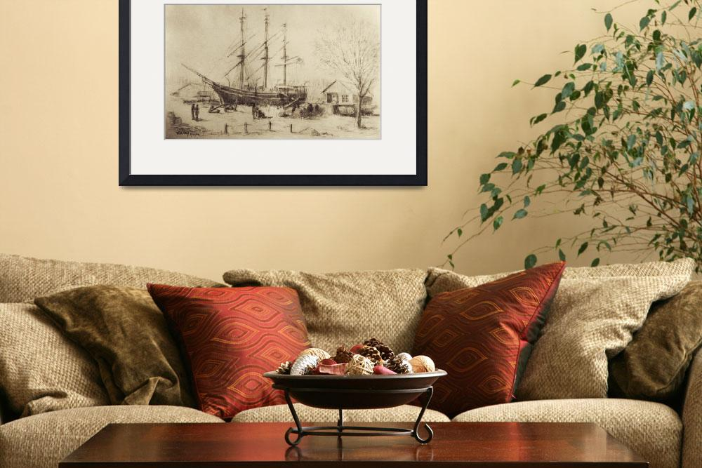 """""""Whaling Ship Charles W. Morgan&quot  (2007) by blaney"""