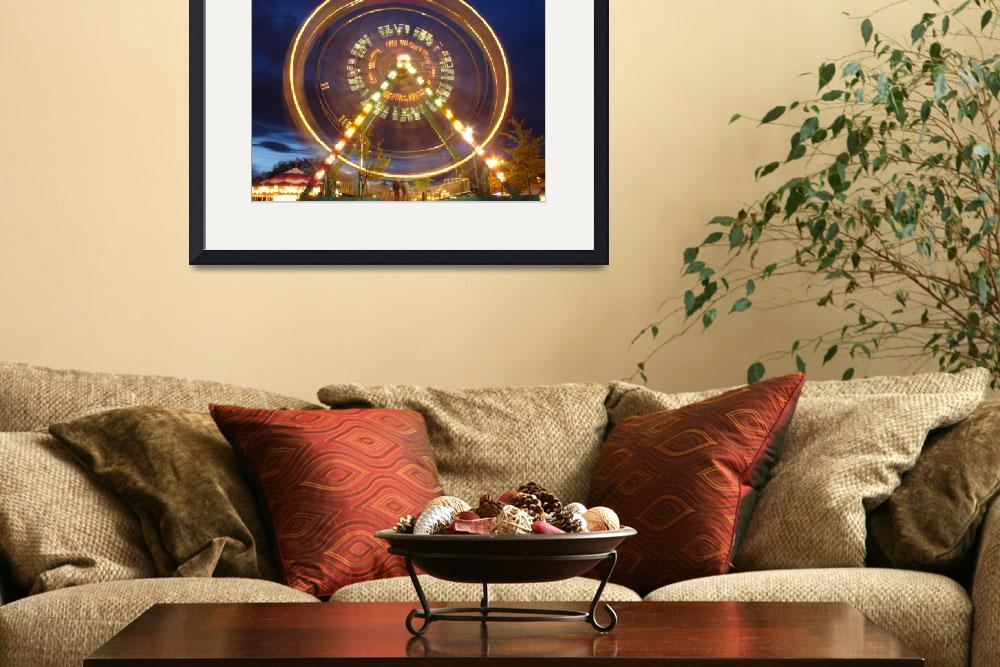 """""""Winchester Carnival Ferris Wheel&quot  by gpage"""