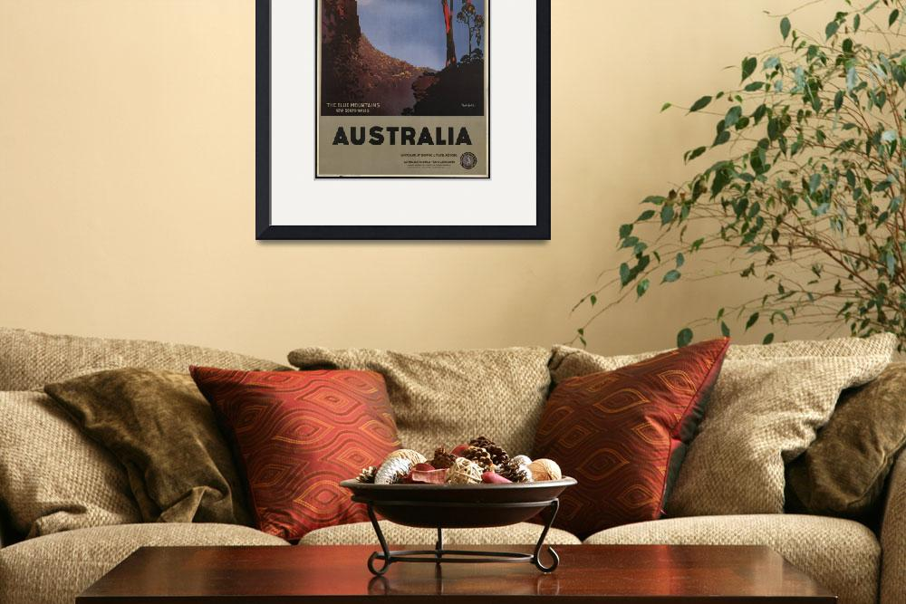"""Australia, Vintage Travel Poster Ad Retro Prints&quot  (1919) by palaciodebellasartes"