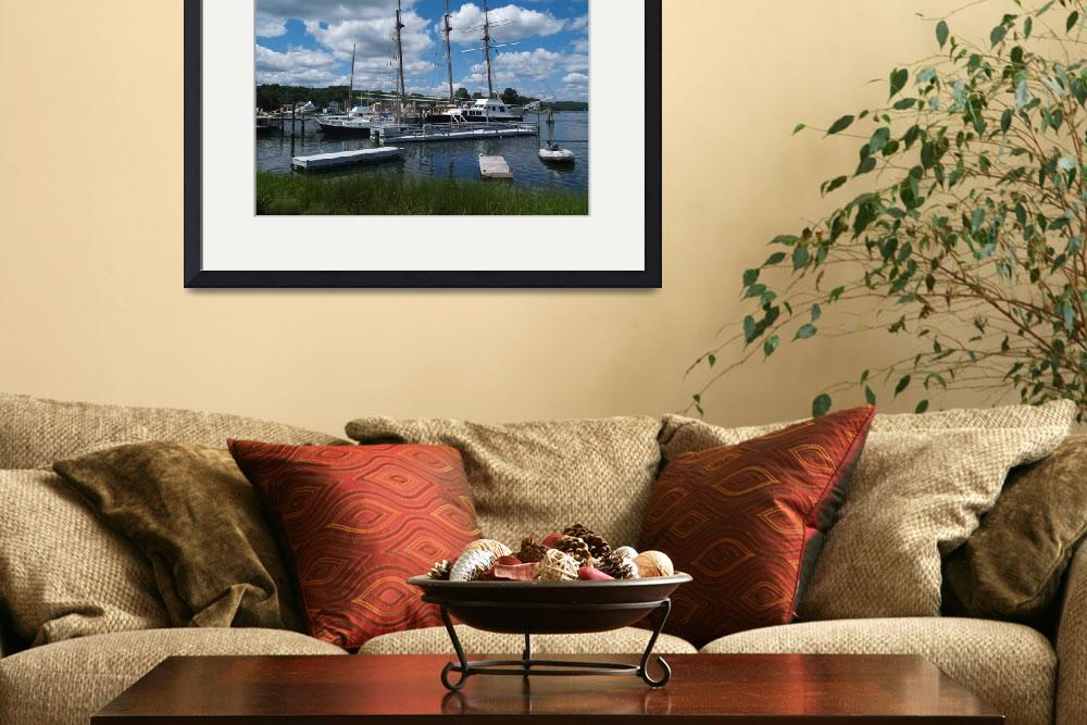 """""""Schooners and Sailboats Are Docked In The Harbor&quot  (2011) by MikeMBurkeDesigns"""